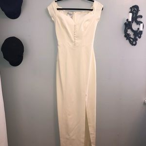Vintage off white Morton Myles wedding dress